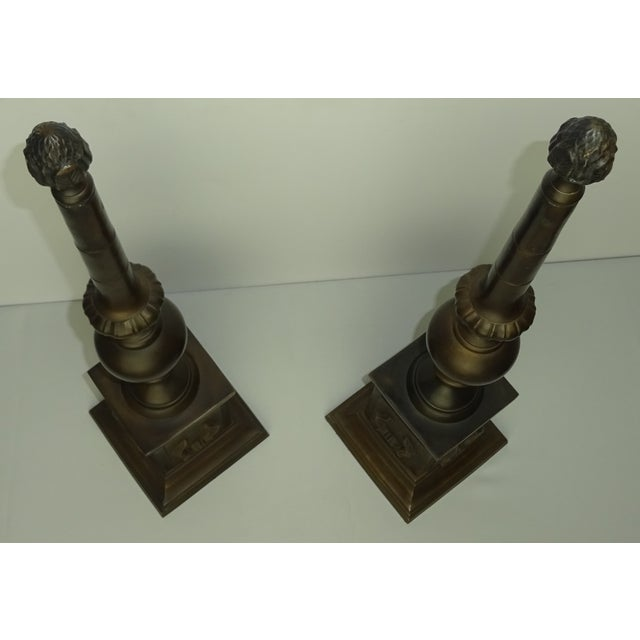 Oversized Bronze Neoclassical Finials - A Pair - Image 8 of 8