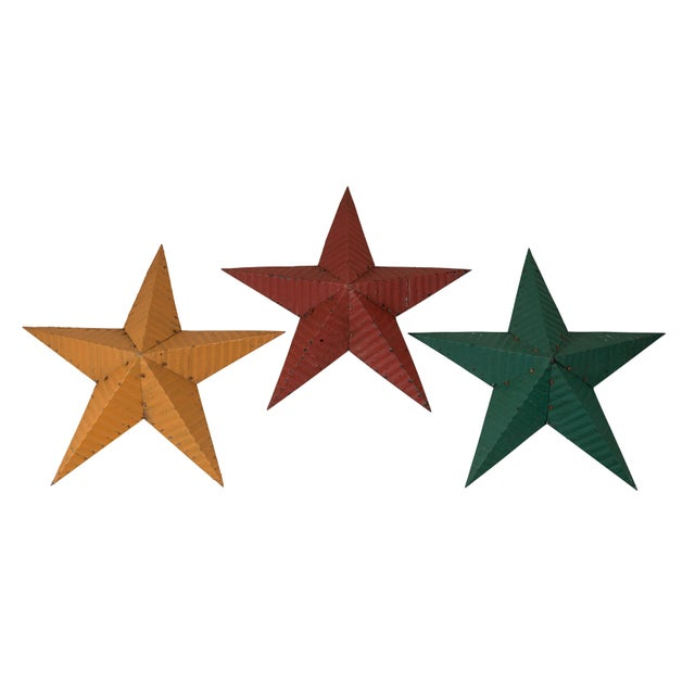 Red Large Amish Barn Stars For Sale - Image 8 of 8
