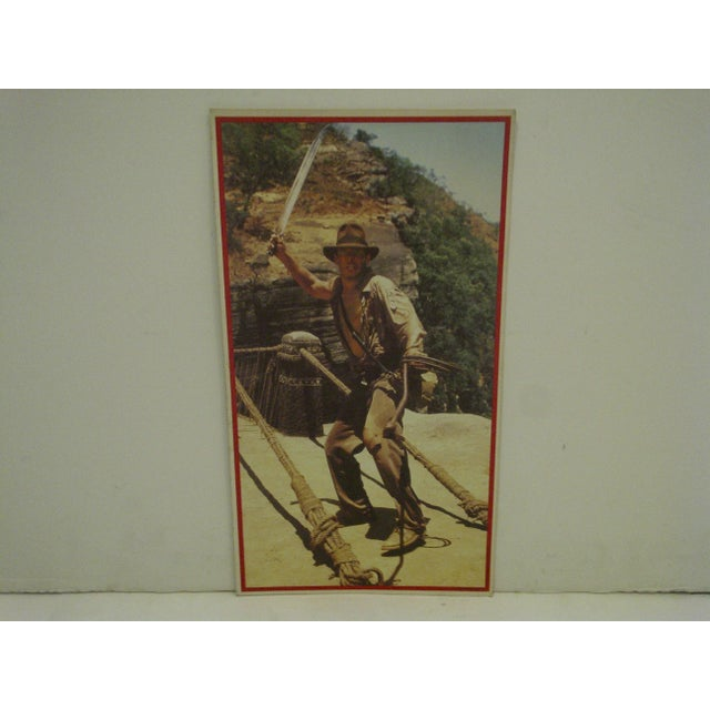 A Vintage -- Un-Cut Sheet Of Gum Card Stickers -- Indiana Jones And The Temple Of Doom -- Circa 1984 -- Lucasfilms And...