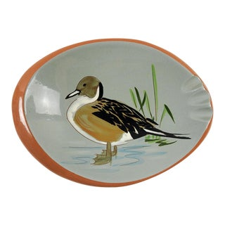 1950s Vintage Stangl Pottery Pin Tail Duck Ashtray