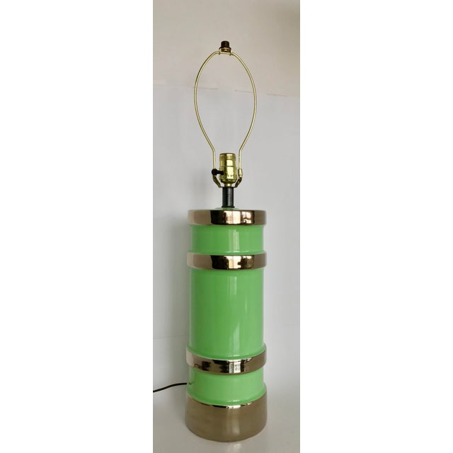 Gilt Ceramic Table Lamp - Image 2 of 8