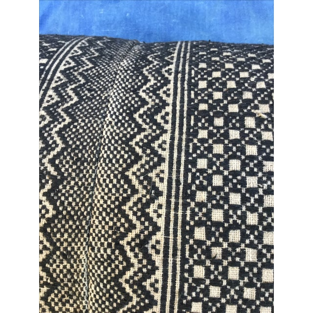 Tribal Wedding Quilt Textile Pillow - Image 5 of 6