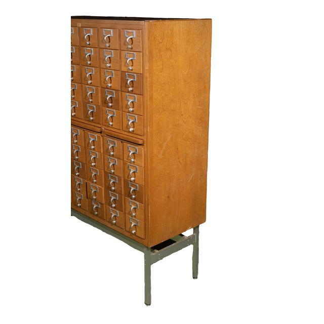 1960s Industrial Standing Card Catalogue For Sale - Image 4 of 6