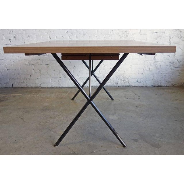 Early Mid Century George Nelson For Herman Miller X Leg Dining Table Image