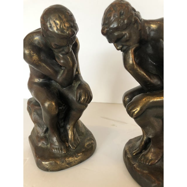 Traditional Bronze Clad Male Nude Bookends For Sale - Image 3 of 13