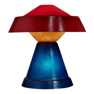 Umberto Riva Very Rare Multicolor Polyester Table Lamp for VeArt, Italy, 1973 For Sale