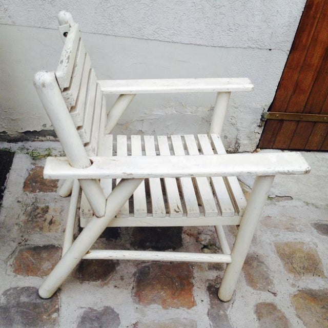 1950s French Riviera Beach House Pair of Lounge Chair For Sale - Image 5 of 8