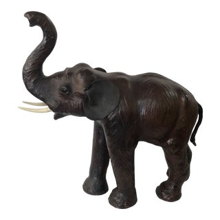Vintage Leather Elephant For Sale