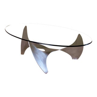 Rare Oval Knut Hesterberg German Coffee Table For Sale