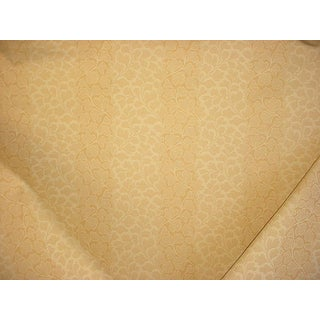 Brunschwig & Fils Ginkgo / Gingko Damask Mimosa Cotton Upholstery Fabric - 18-3/4y For Sale