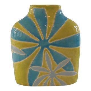 Mod Flower Ceramic Vase For Sale