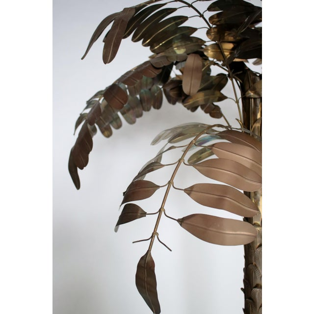 Copper Monumental Metal Palm Tree Sculpture For Sale - Image 8 of 9