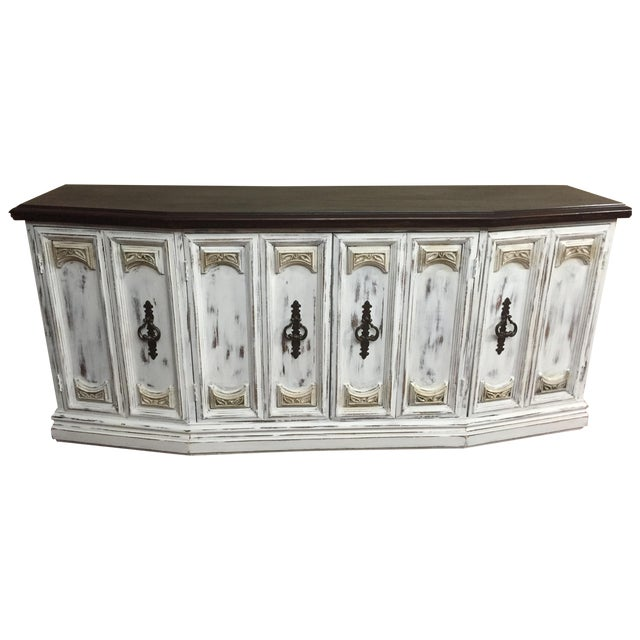Distressed Wooden Sideboard Buffet - Image 1 of 9