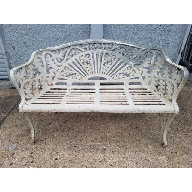 Cast Iron Antique Garden Bench For Sale - Image 9 of 9