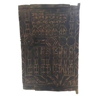 "Superb Dogon Door With Figures Mali African 23 ""H by 15.5"" W For Sale"
