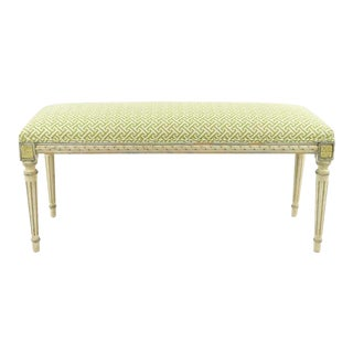 French Style Upholstered Bench For Sale