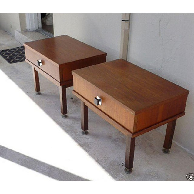 1960s Danish Modern Rosewood Nightstands - a Pair For Sale - Image 4 of 9