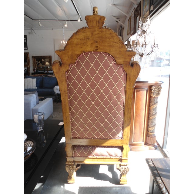 Wooden Throne Arm Chair - Image 4 of 7