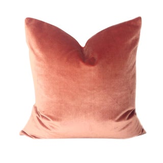Italian Salmon Brut Silk Velvet Pillow