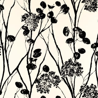 Sample - Schumacher Moonpennies Wallpaper in Black & Ivory Preview