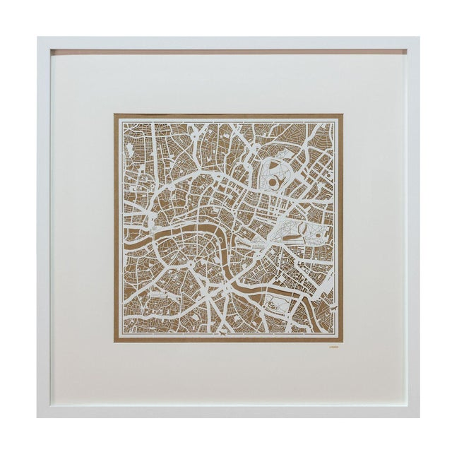 Sarreid LTD London Framed Map - Image 1 of 3