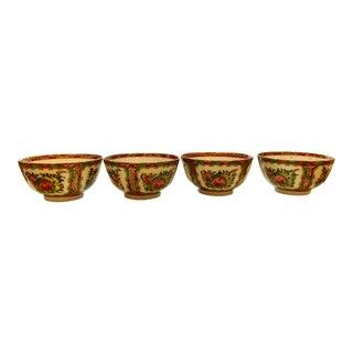 Famille Rose Porcelain Bowls - Set of 4 For Sale