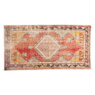 "Vintage Distressed Oushak Rug Runner - 2'8"" X 5'1"" For Sale"
