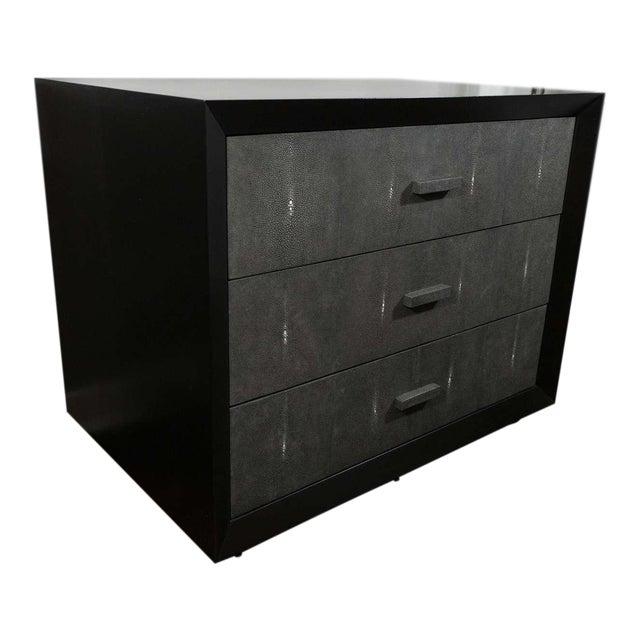 Custom Shagreen Drawer Front Dressers For Sale