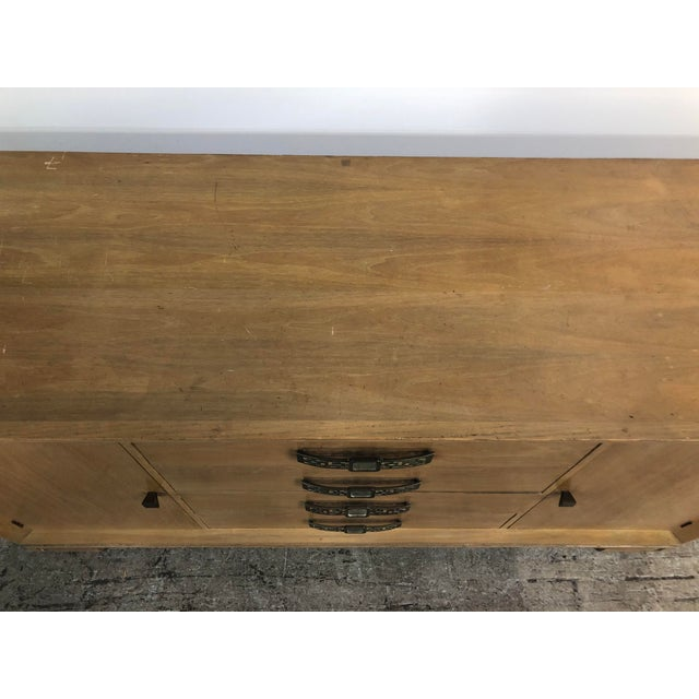 1950s Grosfeld House Mid Century Asian Chinoiserie Solid Wood Credenza Buffet For Sale - Image 5 of 11