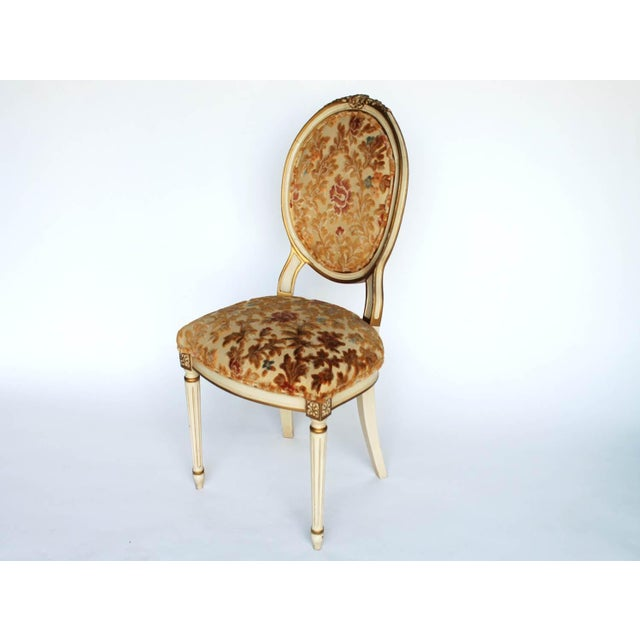 Cottage Floral Upholstered Side Chair For Sale - Image 3 of 7