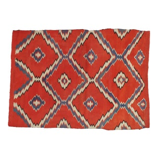 Early 19th Century Antique Navajo Rug- 2′9″ × 4′ For Sale