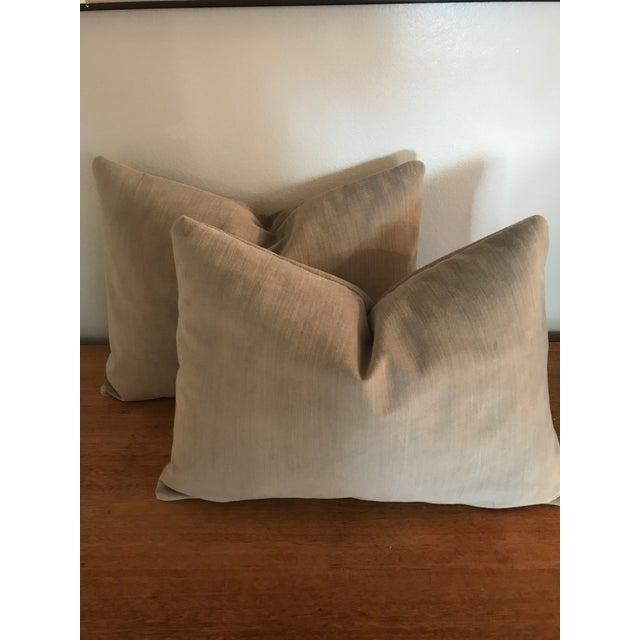 Velvet Lumbar Pillows - a Pair - Image 2 of 6