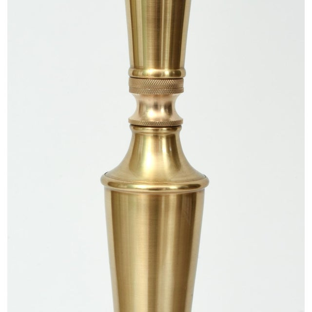 Mid Century Modern Solid Brass Tall Floor Lamp For Sale In New York - Image 6 of 12