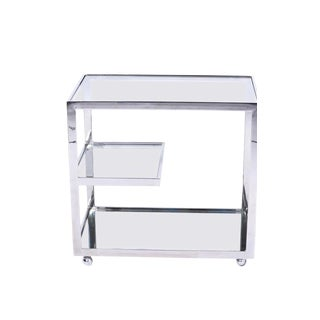 Jules Heumann for Metropolitan Chrome Bar Cart, 1960s For Sale