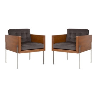 Pair of Mid-Century Modern Harvey Probber Architectural Series Cube Chairs For Sale