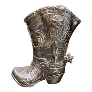 2000s Arthur Court Cowboy Boot Pitcher For Sale