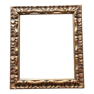 mid century hand carved frame - Mid Century Picture Frames