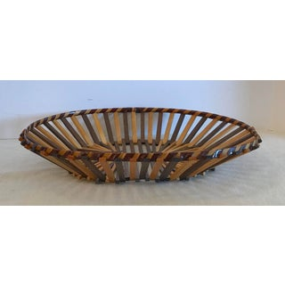 20th Century Boho Chic Two Color Stick Basket Preview