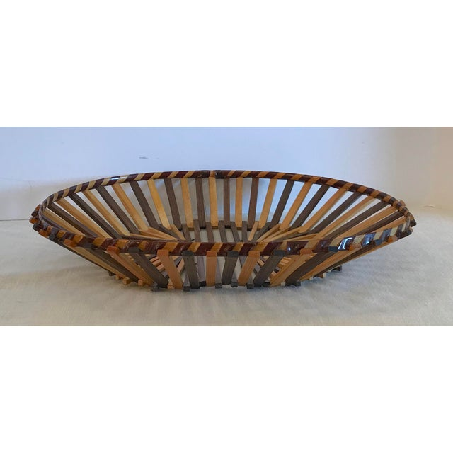 Very nice design on this stick basket. Makes a great bread basket! Made in the late 20th century