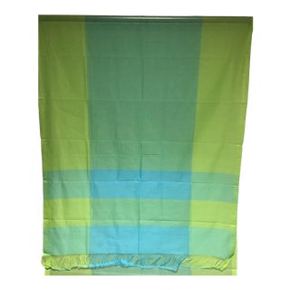100% Cotton Lime Green Citrus Yellow Turquoise Blue Aquamarine For Sale