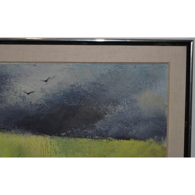 "Mid-Century Modern ""Wheatfield"" Oil Painting by Joseph Barber C.1960 For Sale - Image 4 of 11"