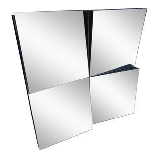 Neal Small Mid-Century Modern Slope Mirror For Sale