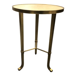 Robert Allen Brass and Shagreen Kingston Side Table For Sale