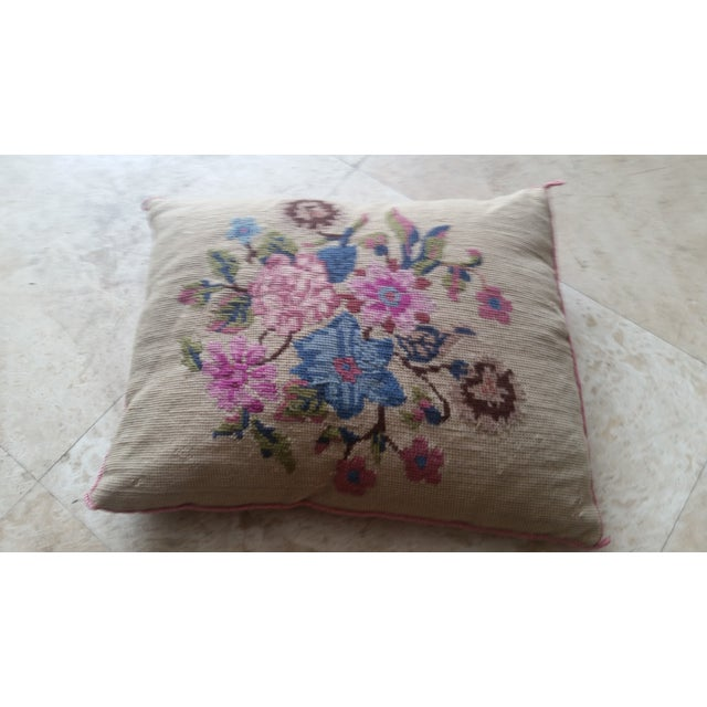Vintage Needlepoint Pillow - Image 2 of 6