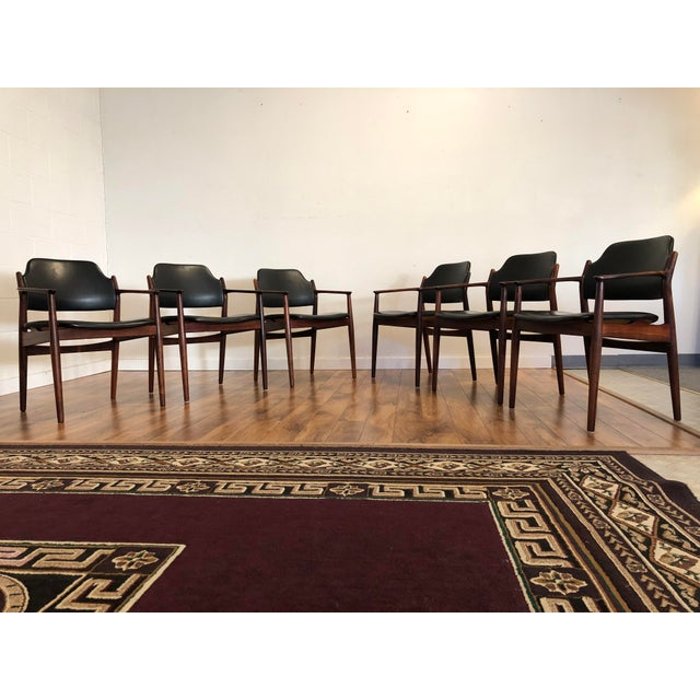 Sibast Furniture Rosewood Chairs by Arne Vodder for Sibast Furniture, Made in Denmark, Set of 6 For Sale - Image 4 of 13