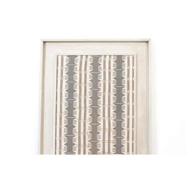 Mid-Century Modern 1970s Framed Modernist Textile For Sale - Image 3 of 13