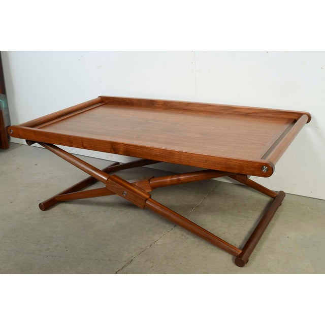 Richard Wrightman Hand Made Furniture. Matthiessen Coffee Table Type 2 in Oiled Walnut Folding Coffee Table Butlers tray...