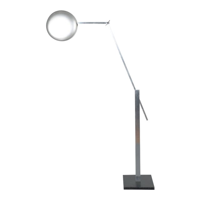 Articulate Aluminum Floor Lamp by Schliephacke for Mewa, Circa 1955 For Sale