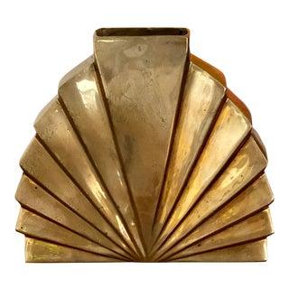 Vintage Art Deco Solid Brass Vase