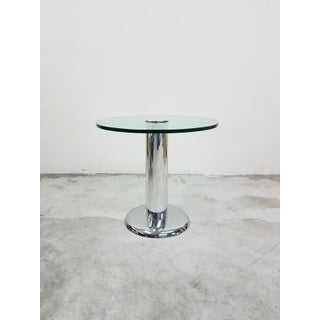 Vintage Round Chrome and Glass Center Table Preview